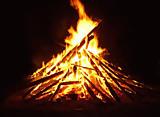 Tannenbaumverbrennen mit der Ribnitzer Feuerwehr