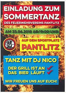 Sommertanz des Feuerwehrvereines Pantlitz